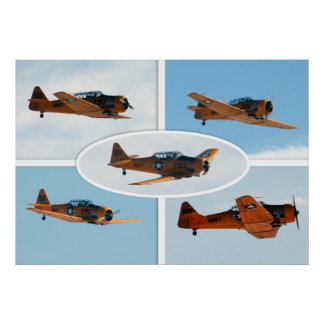 AT-6 Texan WWII War Plane Poster