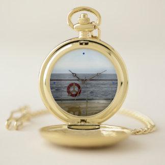 At a Cruise Ship Railing Pocket Watch