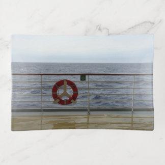 At a Cruise Ship Railing Trinket Trays