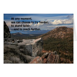 At Any Moment...Motivational Greeting Cards