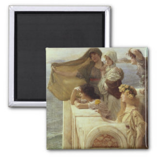 At Aphrodite's Cradle, 1908 (oil on panel) 2 Inch Square Magnet