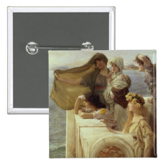 At Aphrodite's Cradle, 1908 (oil on panel) Button