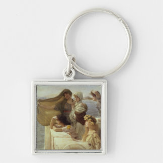 At Aphrodite's Cradle, 1908 (oil on panel) Keychain