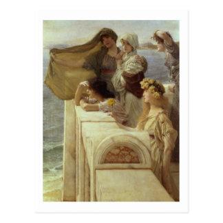 At Aphrodite's Cradle, 1908 (oil on panel) Postcard