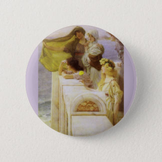 At Aphrodite's Cradle by Sir Lawrence Alma Tadema Button