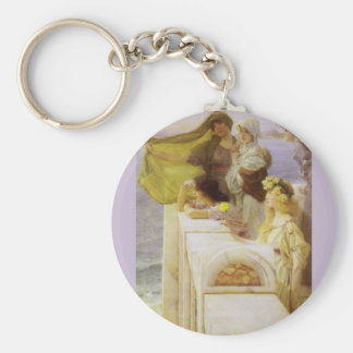 At Aphrodite's Cradle by Sir Lawrence Alma Tadema Keychain