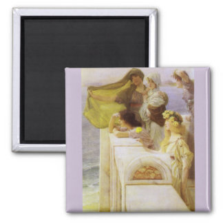 At Aphrodite's Cradle by Sir Lawrence Alma Tadema Magnet