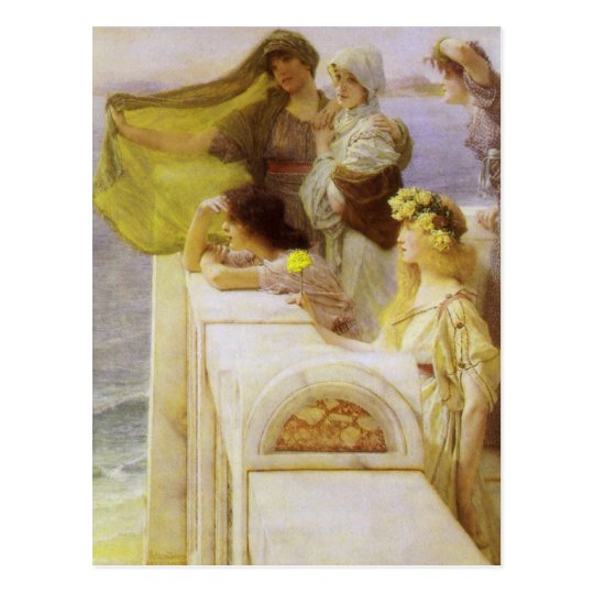 At Aphrodite's Cradle by Sir Lawrence Alma Tadema Postcard