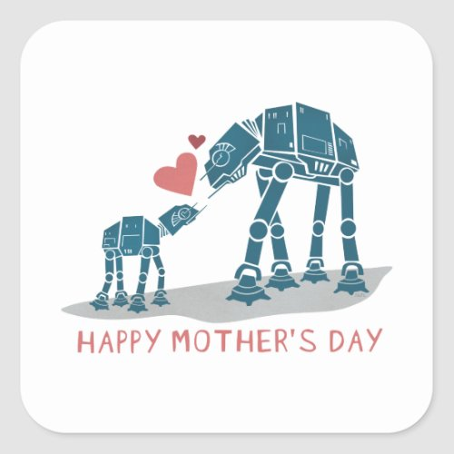 AT_AT Happy Mothers Day Square Sticker