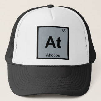 At - Atropos Fates Chemistry Periodic Table Symbol Trucker Hat