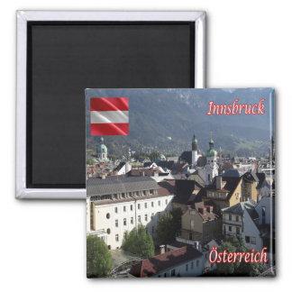 AT - Austria - Innsbruck 2 Inch Square Magnet