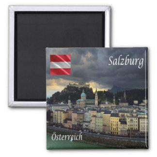 AT - Austria - Salzburg 2 Inch Square Magnet