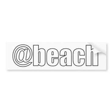Beach Themed At Beach Bumper Sticker