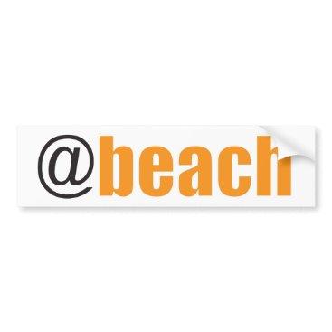 Beach Themed At Beach Bumper Sticker