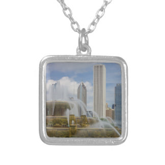 At Buckingham Fountain Silver Plated Necklace