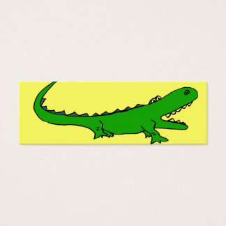 AT- Cartoon Gator Bookmarks Mini Business Card