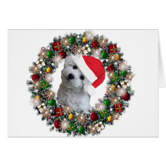 At Christmas - Bichon Frise Stationery Note Card