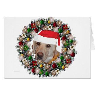 At Christmas - Labrador Retriever Greeting Cards