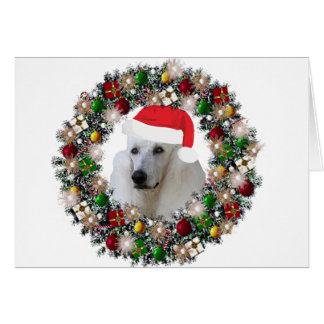 At Christmas - Standard Poodle Card