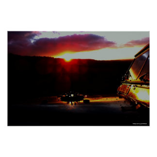 At day's end -by Lynall Millward Poster