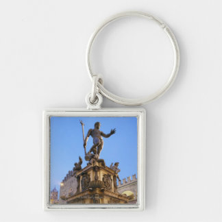 at dusk Silver-Colored square keychain