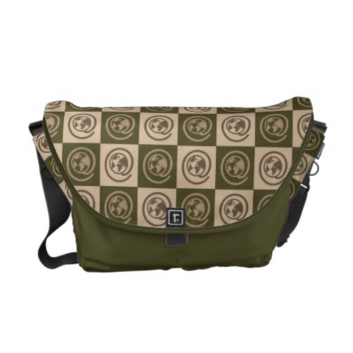 At Earth Sign Pattern Courier Bags