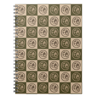 At Earth Sign Pattern Note Books