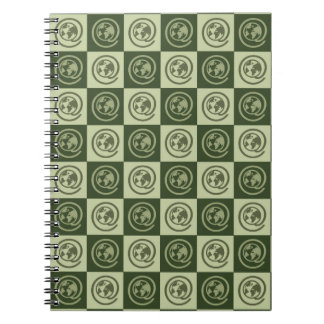 At Earth Sign Pattern Spiral Notebooks