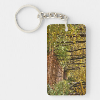 At Fall In Wienerwald Double-Sided Rectangular Acrylic Keychain