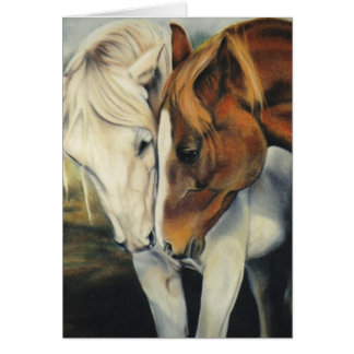 """At First Sight"" equine card"