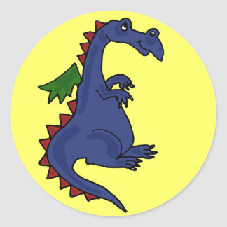 AT- Funky Dragon Stickers