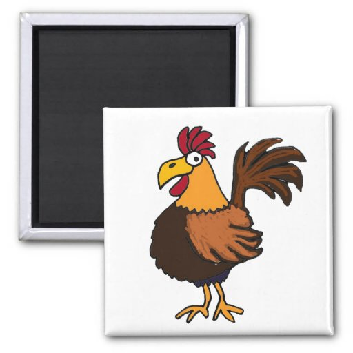 AT- Funky Rooster Magnet