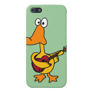 AT- Funny Duck Playing the Electric Guitar Cover For iPhone SE/5/5s