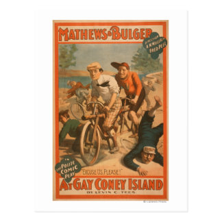 """At gay Coney Island"" Musical Comedy Poster #1 Postcard"