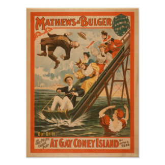 """""""At gay Coney Island"""" Musical Comedy Poster #2"""