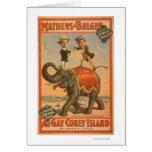 """""""At gay Coney Island"""" Musical Comedy Poster #3 Greeting Card"""