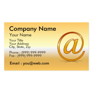 at gold business card