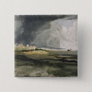 At Hailsham, Sussex: A Storm Approaching, 1821 (w/ Pinback Button