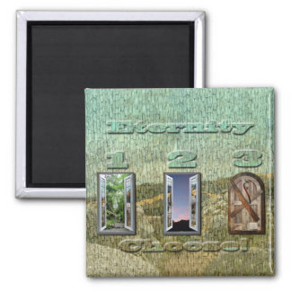 At Hell Gates 2 Inch Square Magnet