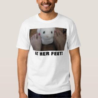 AT HER FEET! TEE SHIRT