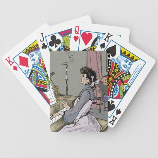 At Her Piano Bicycle Playing Cards