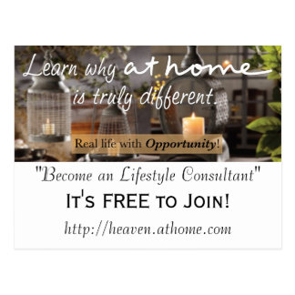 At Home Business Promotion Postcard