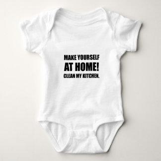 At Home Clean My Kitchen Baby Bodysuit