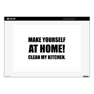 "At Home Clean My Kitchen Decal For 15"" Laptop"