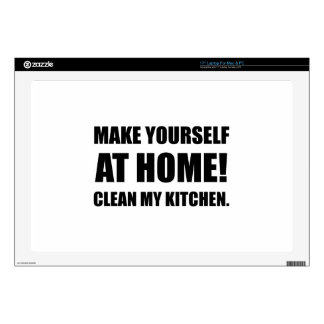 At Home Clean My Kitchen Decals For Laptops