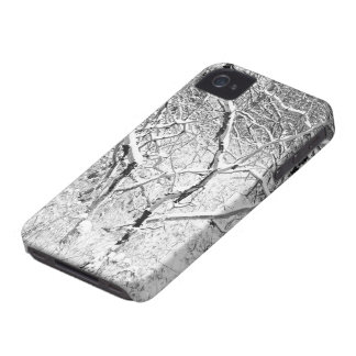 at home in snow Case-Mate iPhone 4 case