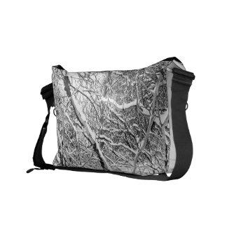 at home in snow courier bag