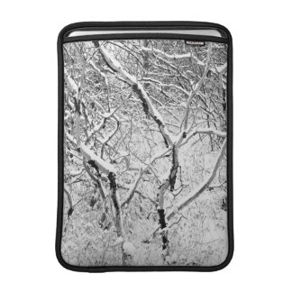 at home in snow MacBook air sleeve