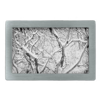 at home in snow rectangular belt buckle