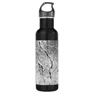 at home in snow stainless steel water bottle
